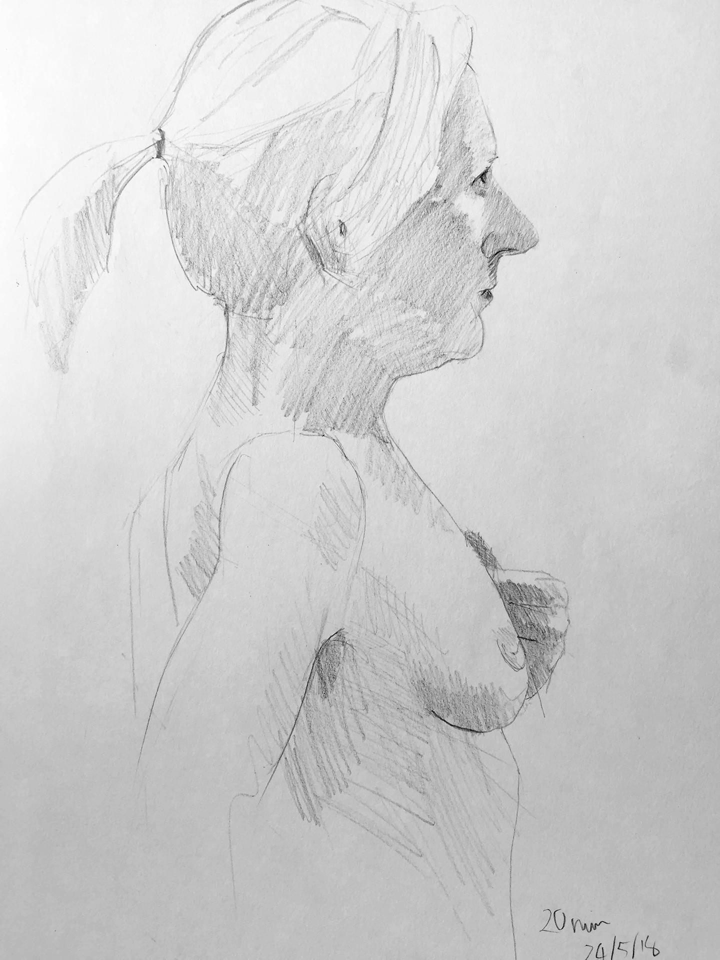 Life Drawing Sketch 24/5/18