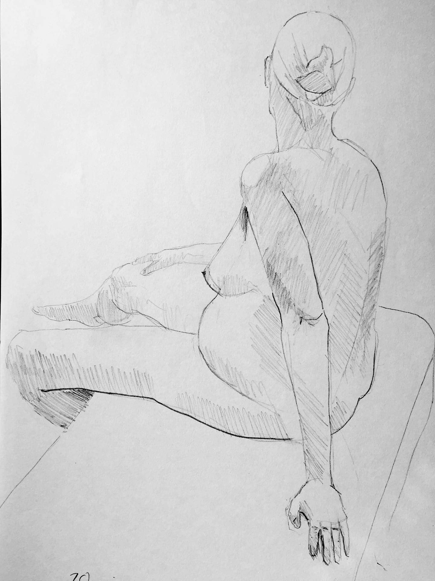 Life Drawing Sketch 10/5/18