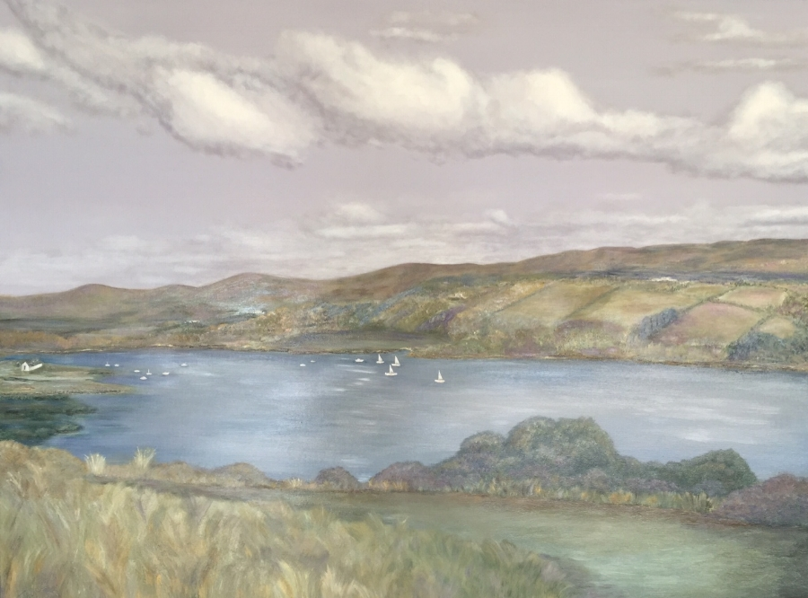 My Ireland Home, Acrylic on canvas 150cm x 90cm Commission SOLD