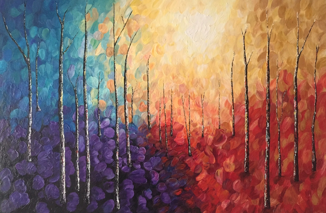 Abstract Trees, Acrylic on canvas 210cm x 180cm Commission SOLD