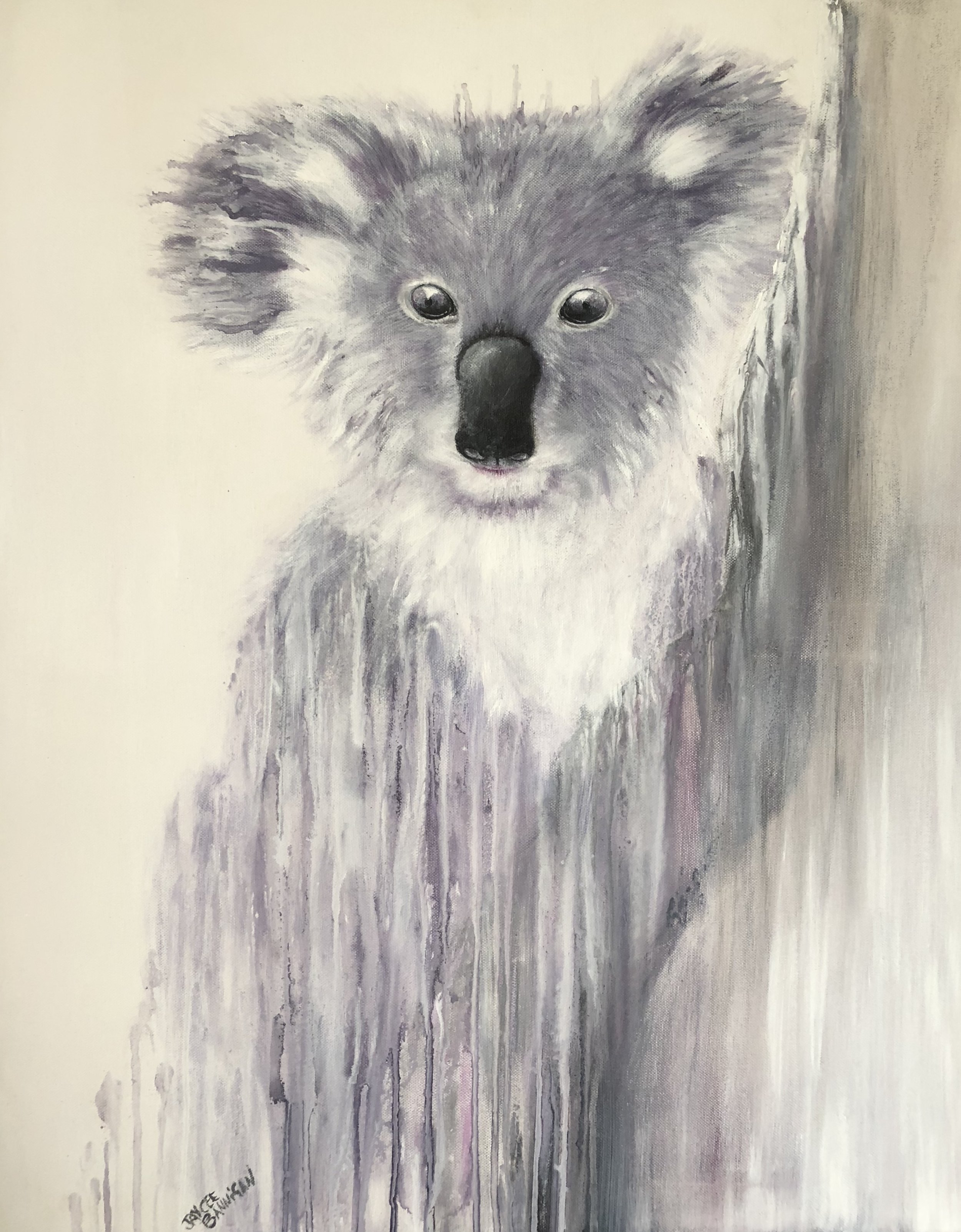 """Koala"" Acrylic on stretched canvas 76cm x 61cm FOR SALE"