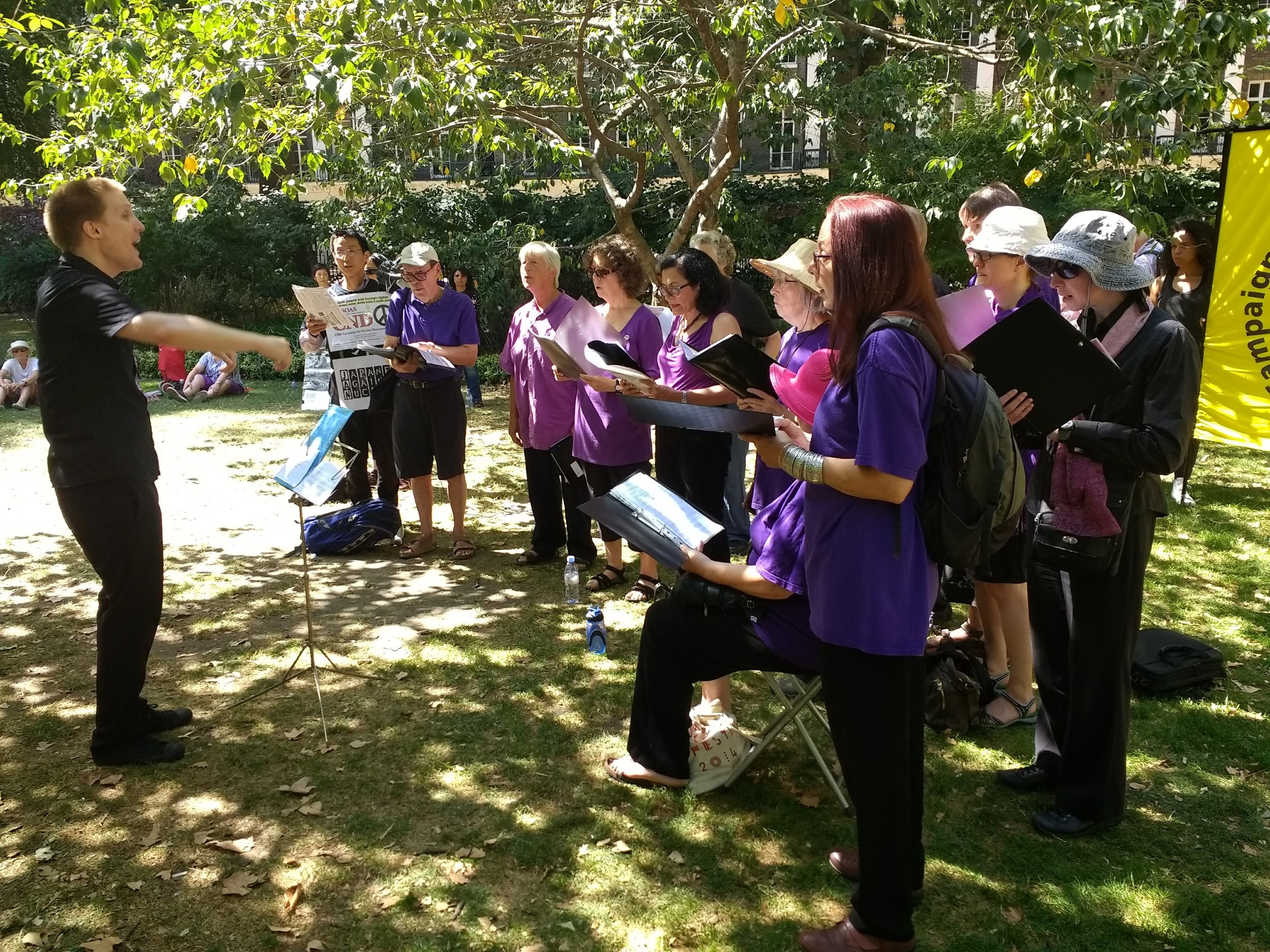 Raised Voices choir performing at our ceremony