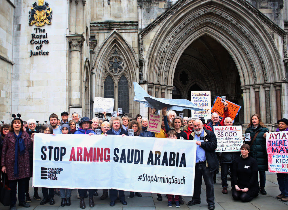 Campaigners outside the Court of Appeal