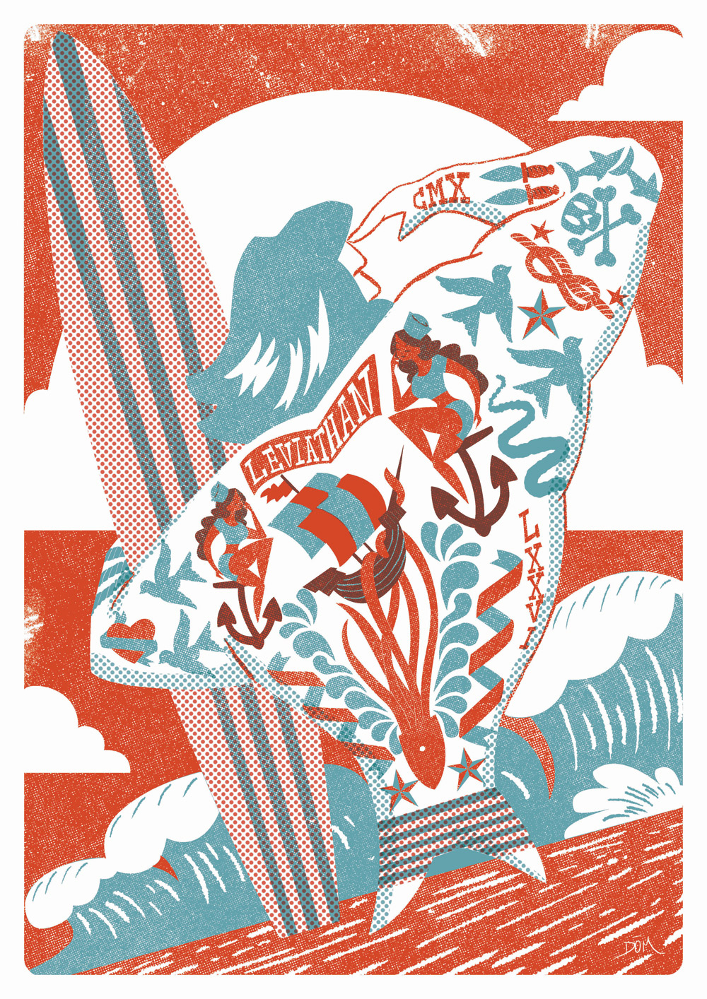 Limited edition screen print for Damn Fine Print and Sure Shots Film Festival, Ireland.