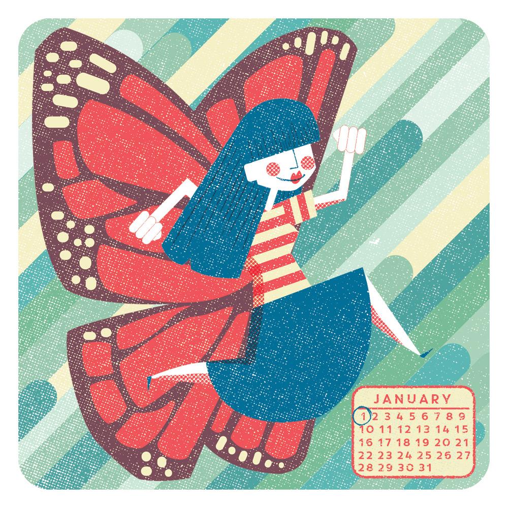 Editorial illustration for Live Happy magazine, USA.