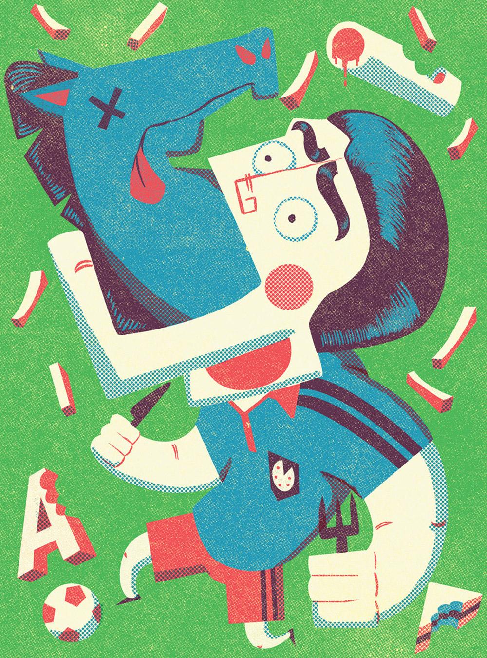 Editorial illustration for Pickles magazine, UK.