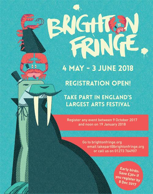 Illustration for Brighton Fringe Festival 2018.