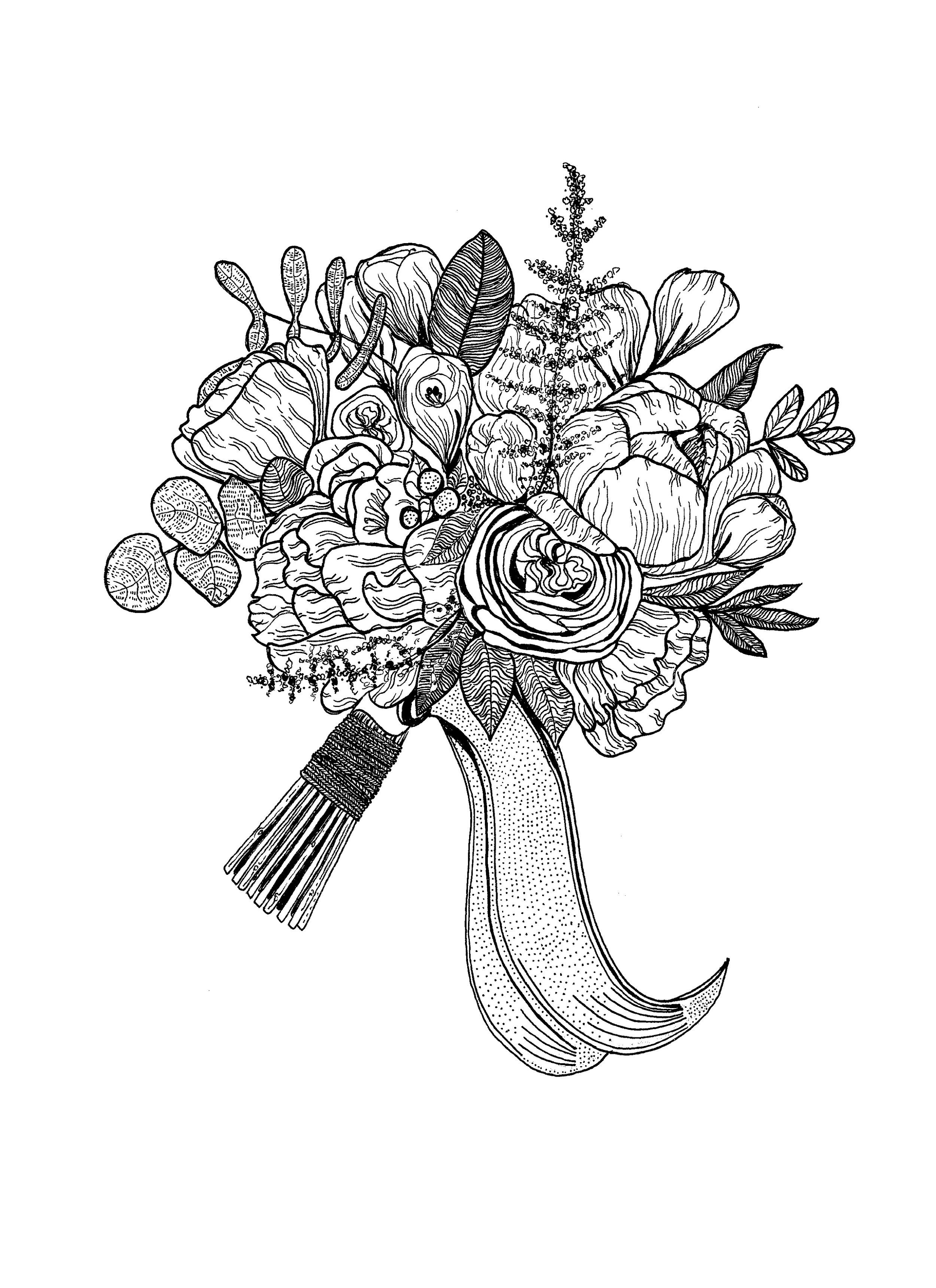 Wedding Bouquet Illustration 2017.