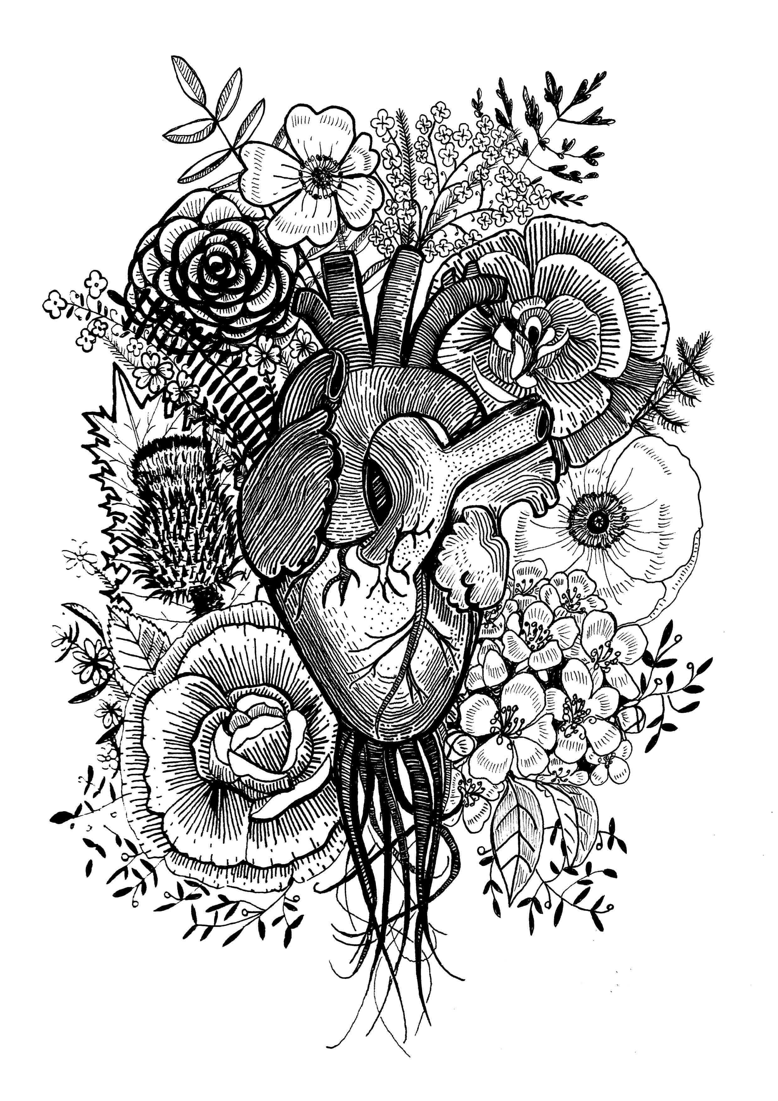 Anatomical Heart tattoo design 2015.