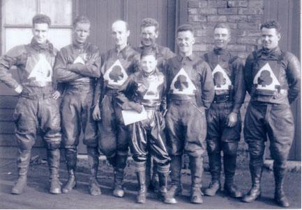 belle vue aces 1934 - Frank Varey, Max Grosskreutz, Bob Harrison, Eric Langton (capt.), Joe Abbott, Bill Kitchen, Frank Charles.