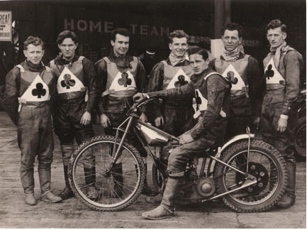 belle vue aces 1958 - Peter Craven, Dick Fisher, Peter Williams, Maurice (Slant) Payling, Ron Johnston, Eddie Rigg, Bob Duckworth