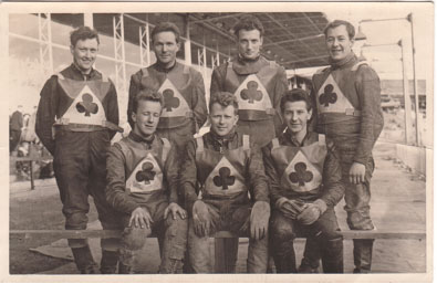 belle vue aces 1962 - Peter Kelly, Soren Sjosten, Dick Fisher, Peter Craven (capt.), Jim Yacoby, Cyril Maidment, Nick Nicholls