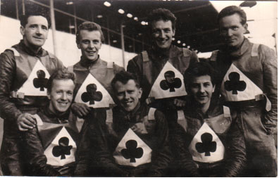 belle vue aces 1963 - Gordon McGregor, Soren Sjosten, Bill Powell, Peter Craven, Jim Yacoby, Cyril Maidment, Dick Fisher