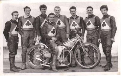 belle vue aces 1964 - Soren Sjosten, Jim Yacoby, Norman Nevitt, Dick Fisher (capt.), Bill Powell, Danny Dunton, Gordon McGregor, Cyril Maidment