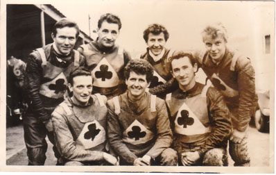 belle vue aces 1966 - Dick Fisher, Jim Yacoby, Gordon McGregor, Norman Nevitt, Cyril Maidment, Sandor Levai, Bill Powell