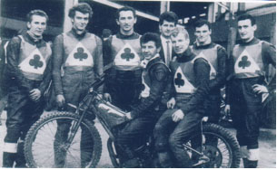 belle vue aces 1967 - Dave Hardy, Bill Powell, Sandor Levai, Cyril Maidment (capt.), Norman Nevitt, Ove Fundin, Tommy Roper, Paul ONeill