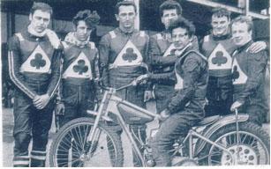 belle vue aces 1968 - Chris Bailey, Chris Pusey, Sandor Levai, Norman Nevitt, Cyril Maidment (capt.) Tommy Roper, Soren Sjosten