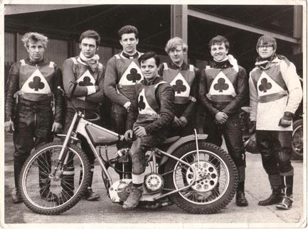 belle vue colts 1968 - Ken Moss, Chris Bailey, John Woodcock, Taffy Owen (capt.), Brian Bentley, Dave Brockbank, Ken Eyre