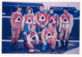 belle vue aces 1972 - Ken Eyre, Chris Pusey, Soren Sjosten, Eric Broadbelt, Alan Wilkinson, Peter Collins, Ivan Mauger (capt.)