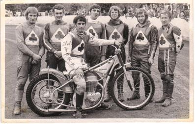 belle vue aces 1971 - Alan Wilkinson, Eric Broadbelt, Ivan Mauger (capt.), Dave Hemus, Ken Eyre, Chris Pusey, Soren Sjosten