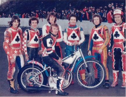 belle vue aces 1978 - Chris Turner, Les Collins, Derek Richardson, Alan Wilkinson (capt.), Jim Brett, Chris Morton, Peter Collins