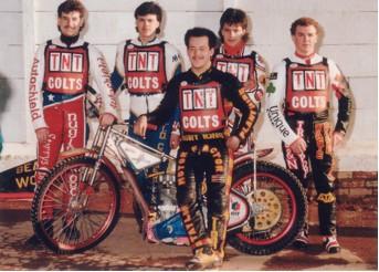 belle vue colts 1987 - Steve Newsham, Jon Roberts, Glenn Hornby, Paul Smith, Frank Killeen