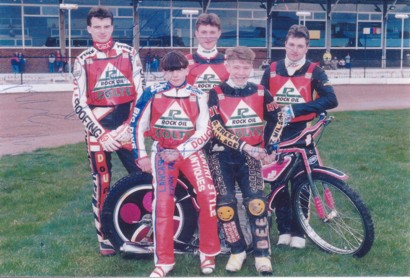 belle vue colts 1992 - Steve Cope, Jon Armstrong, Mike Hampson, Peter Scully, Mike Howe
