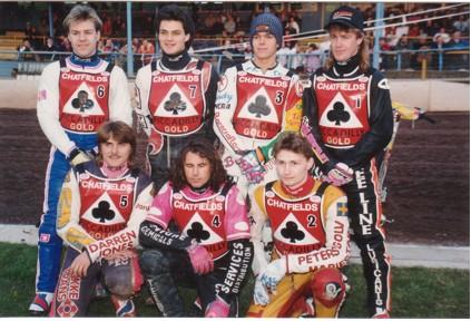 belle vue aces 1994 - Michael Coles, Frede Schott, Paul Smith, Peter Carr, Chris Manchester, Niklas Klingberg, Jason Lyons