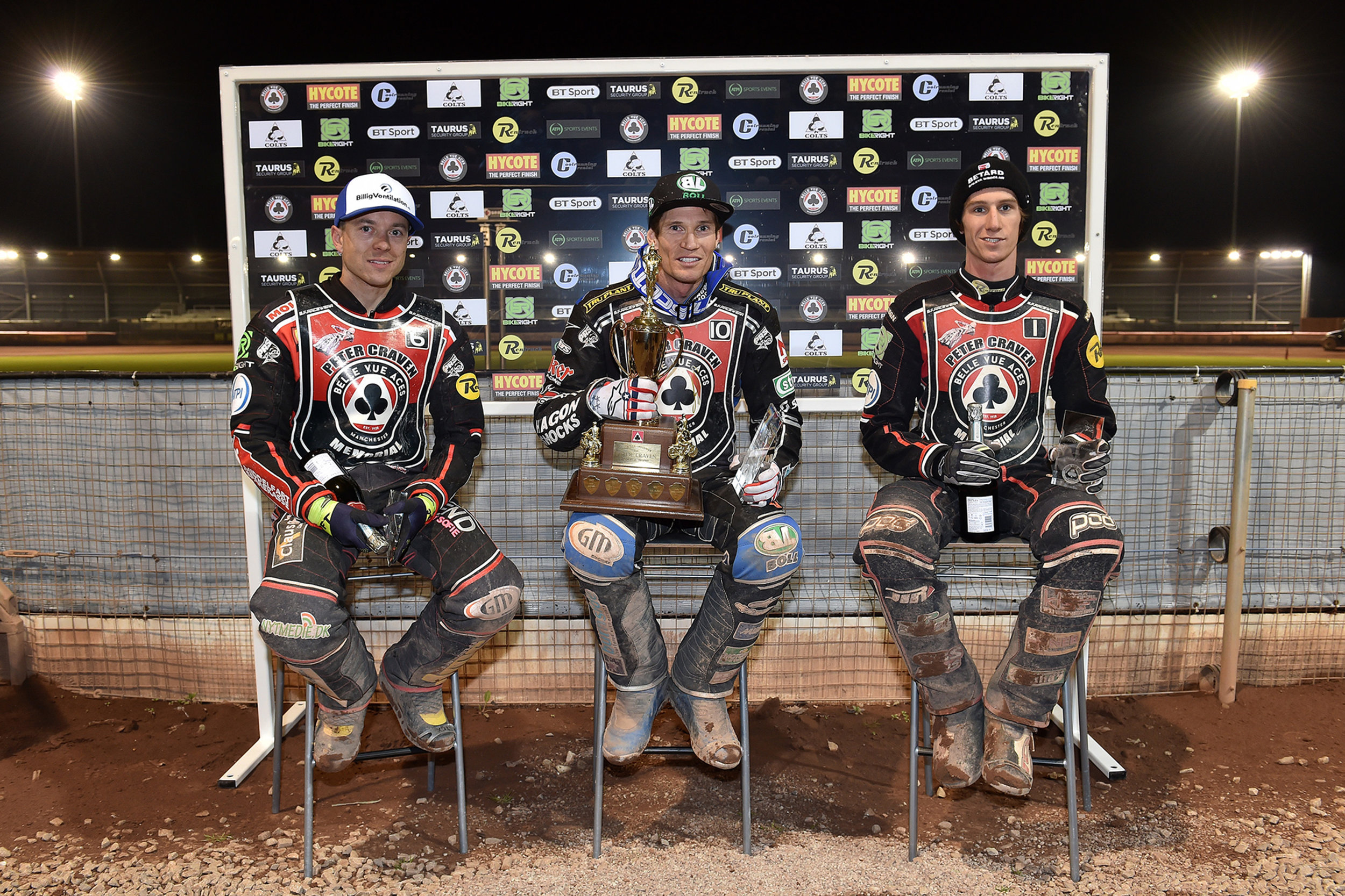 Peter Craven Memorial top three: Jason Doyle, Kenneth Bjerre and Max Fricke