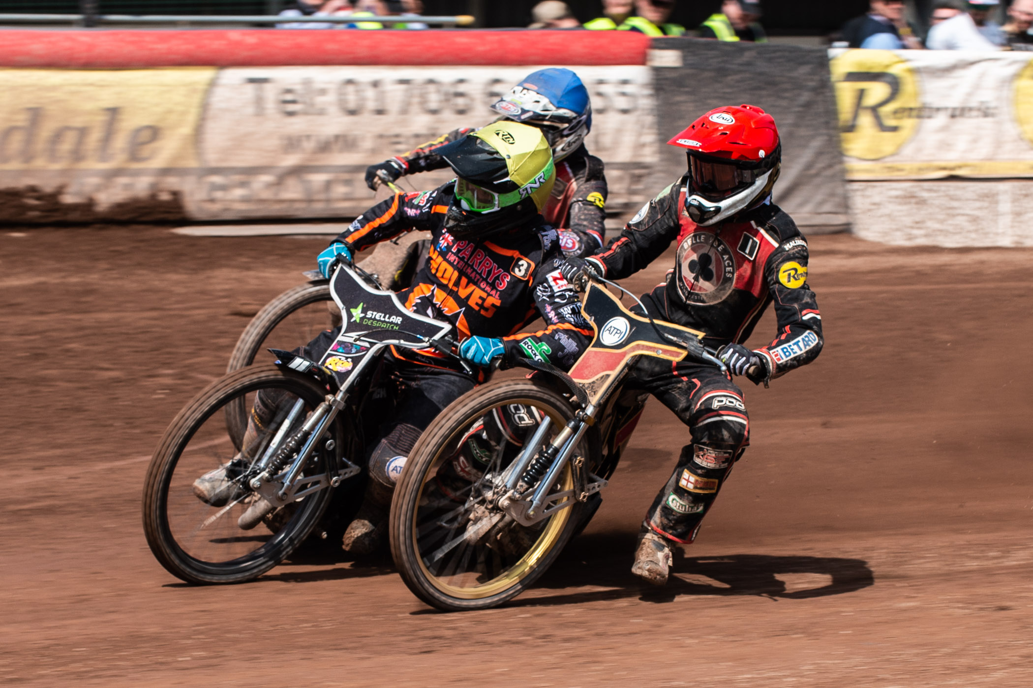 Bar some cuts and scrapes, Max Fricke escaped injury after falling spectacularly in Heat 10 at home