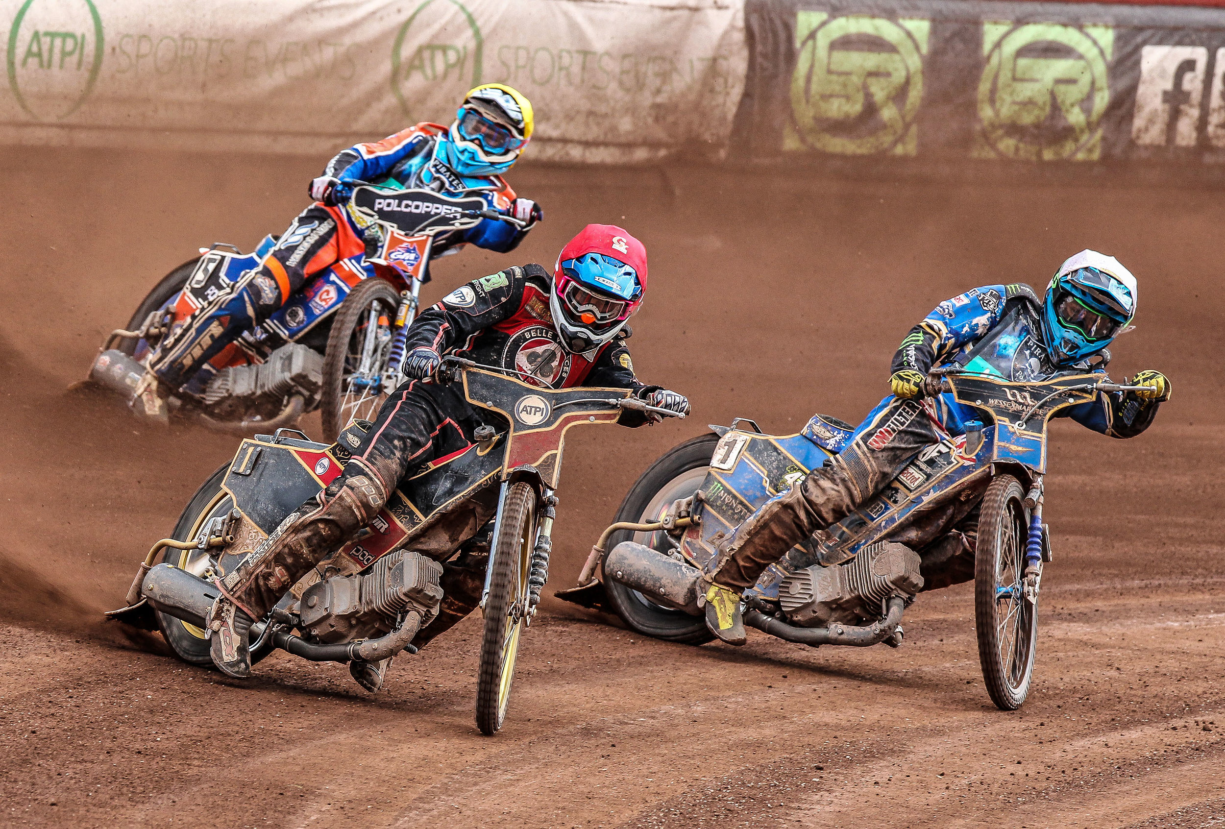Skipper Max Fricke (red) impressed in Saturday's Speedway of Nations