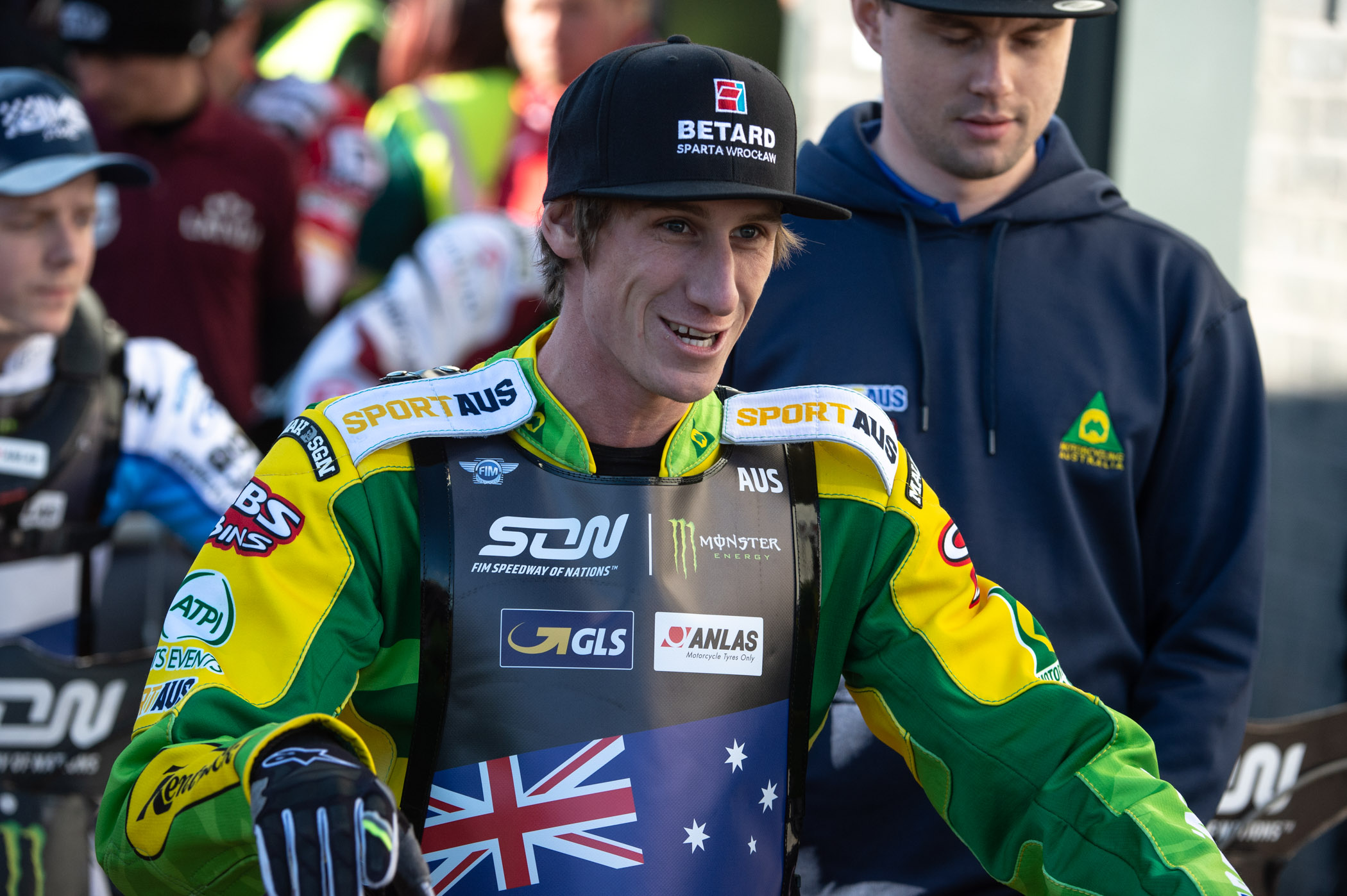 Max Fricke, representing Australia in the 2019 Monster Energy FIM Speedway of Nations