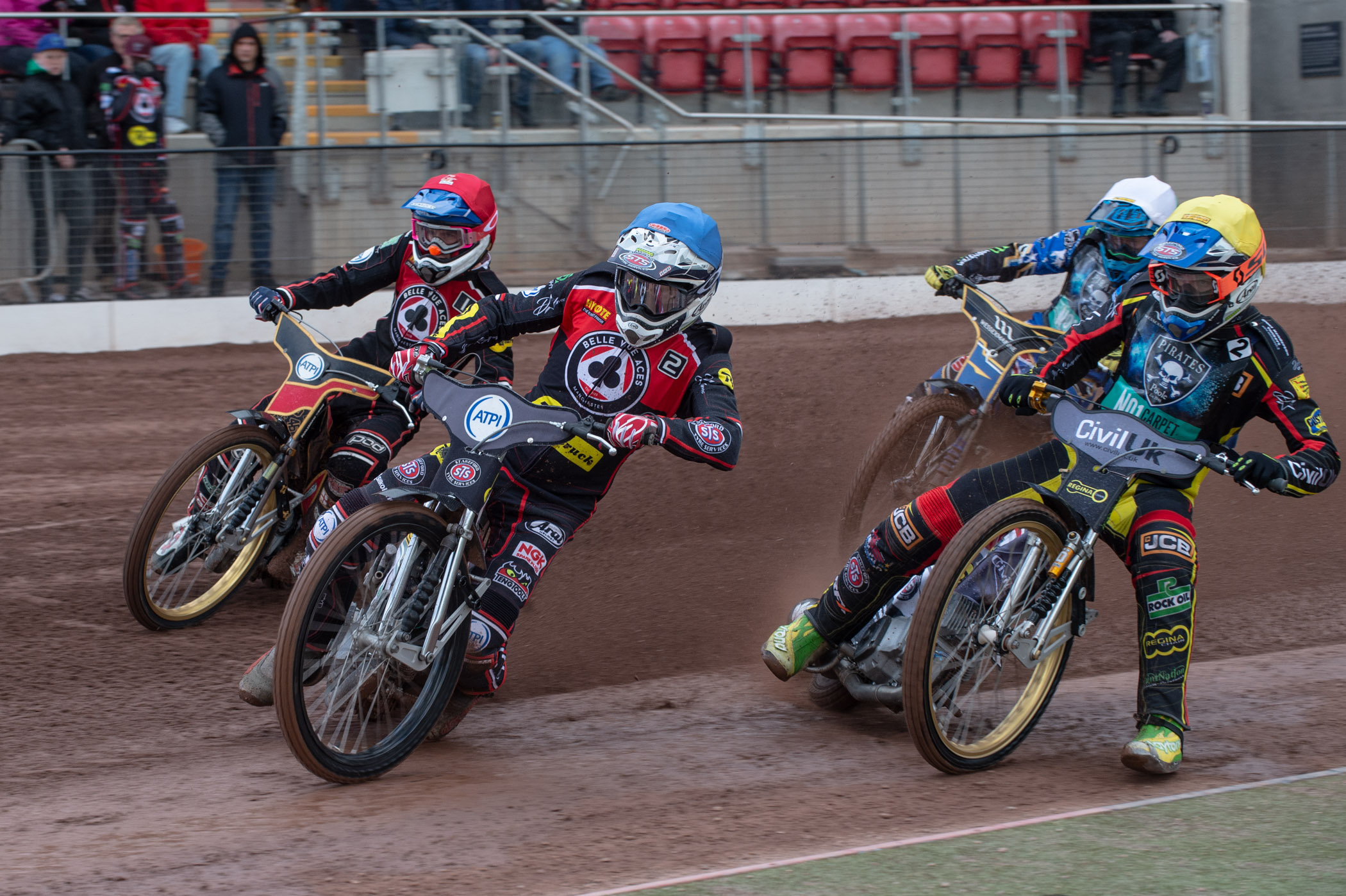 Poole forced Belle Vue into a dramatic drawn meeting during their last encounter on May 6