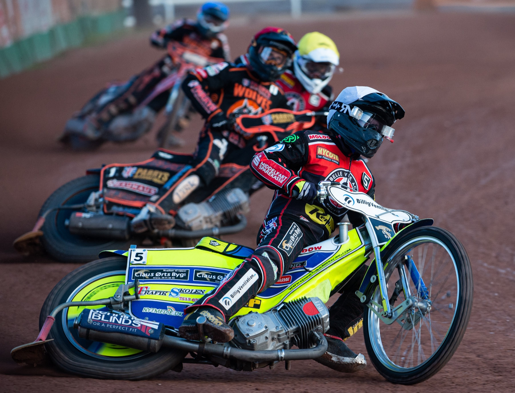 Kenneth Bjerre topped the scores for Belle Vue with 14 points