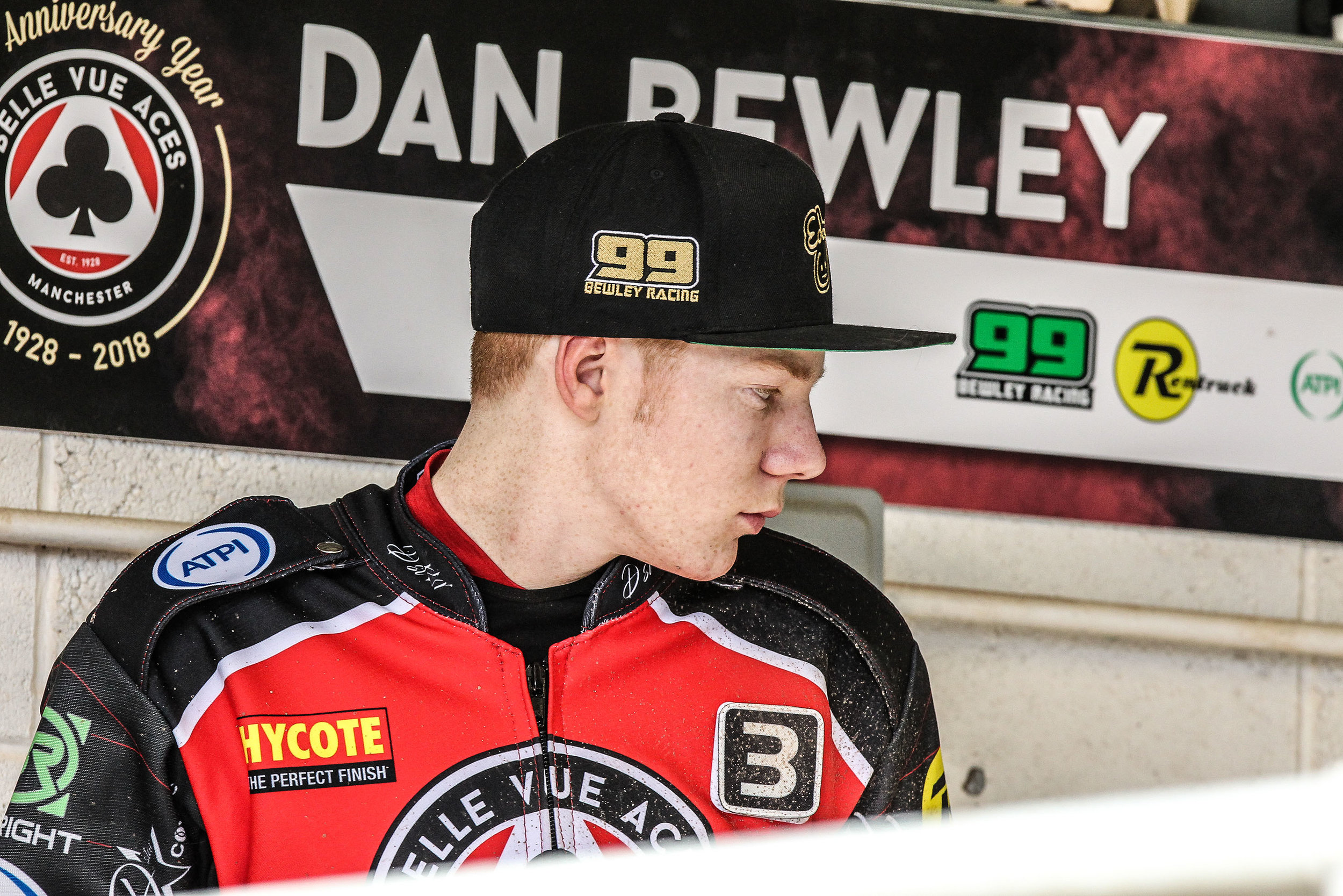 Dan Bewley made a triumphant return to the track after a couple of weeks out with a back injury