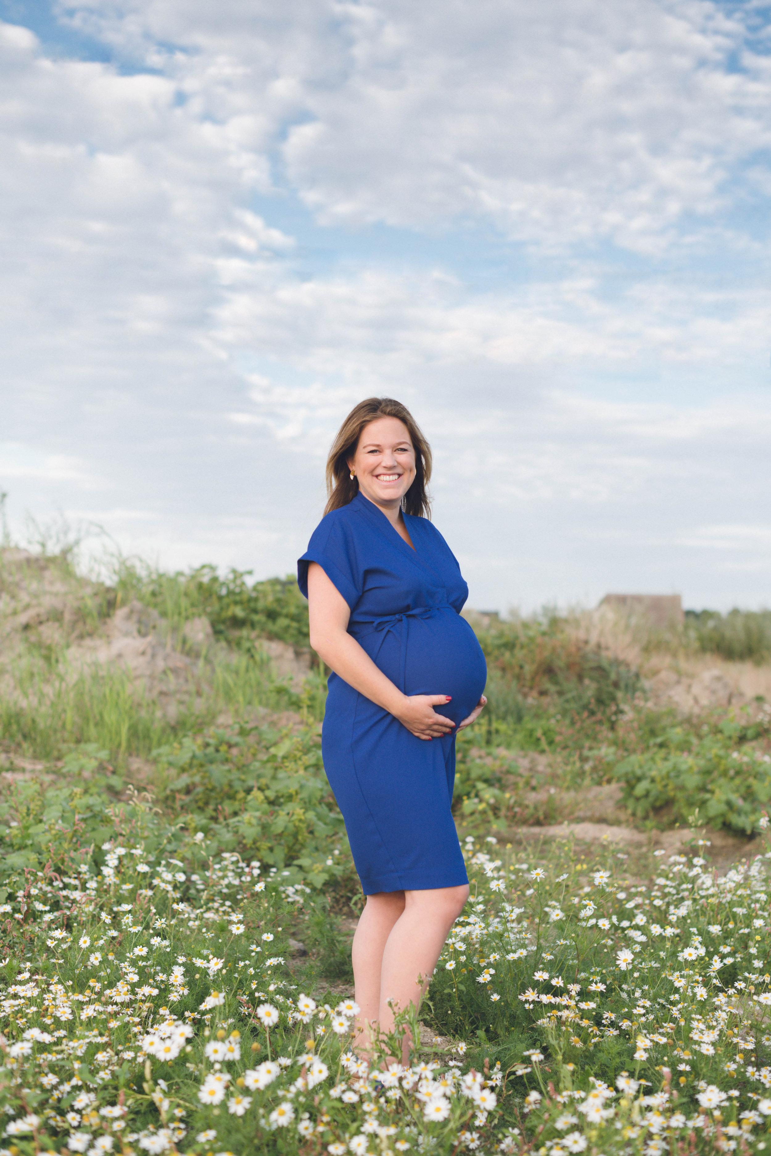 Een zwangerschapsshoot.