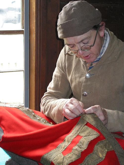 Historic Trade Demonstrations: Stitcher Saturday! Dressmaking with Linda Oakley, Shoemaking with Peter Oakley, and Tailoring with Henry Cooke