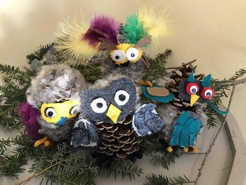 Take and Make: Pine Cone Owl Kit