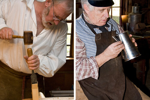 Historic Trade Demonstrations: Architectural Woodworking with Ted Ingraham and Tinsmithing with Bill McMillen