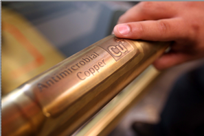 Copper as an antibacterial material in different facilities -