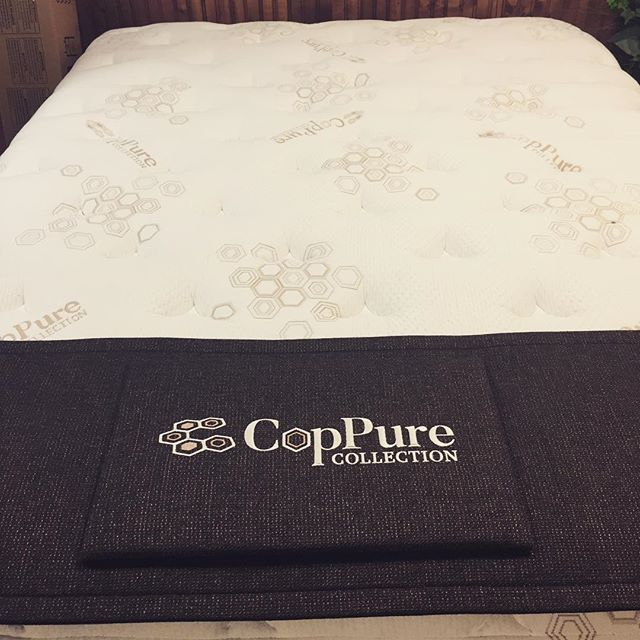 Ready for a good start of the week?#CopPure#copper#coppermattress#healthylifestyle #grandrapidsbedding