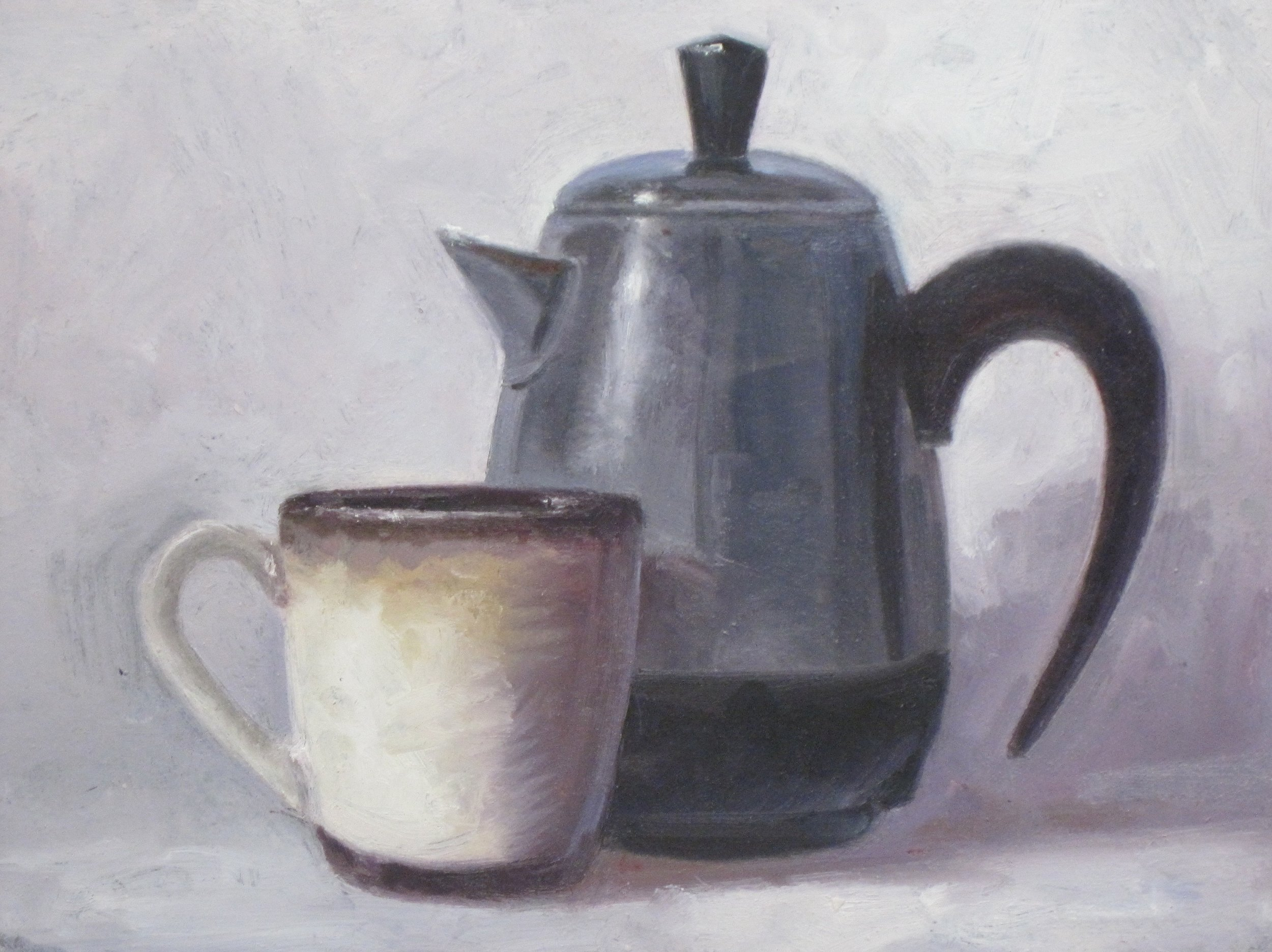 Farberware Coffee #3  6 x 8 Oil