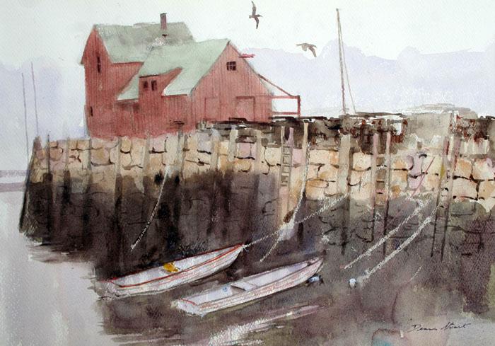 Motif #1 14x20 watercolor