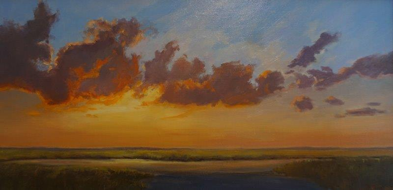 Cloudy Sunset      15 x 30 in         Oil on linen