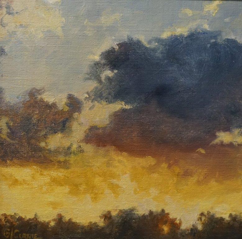 Sunset                        10 x 10 in                 Oil on linen