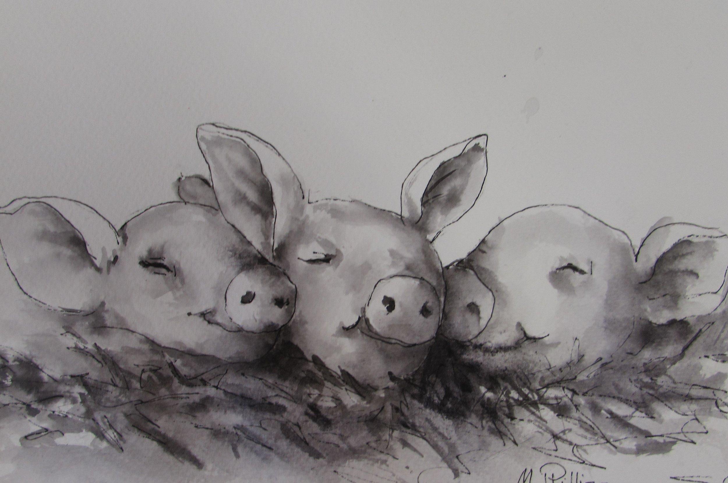 Little piggies ink