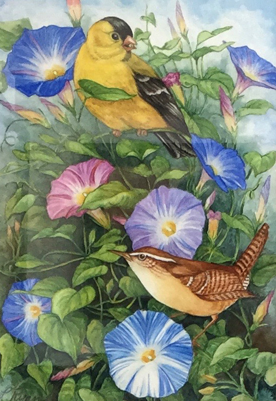 Birds and Flowers 1