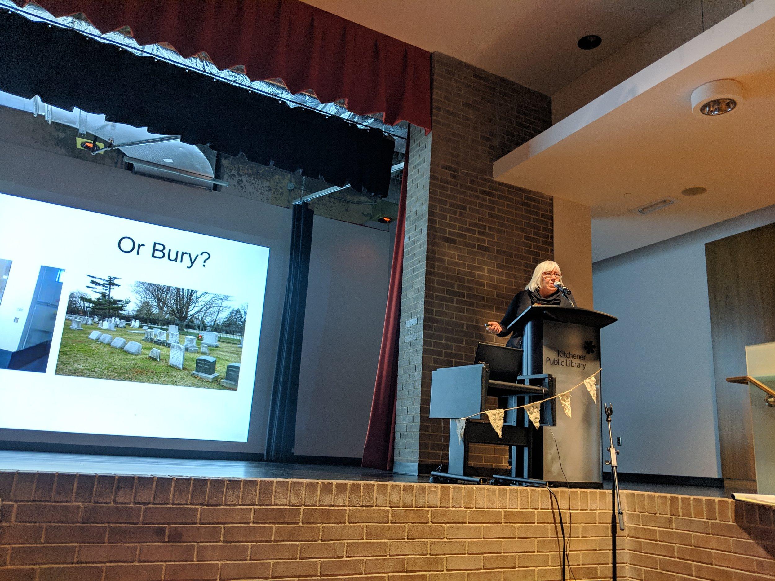 Susan Koswan, Good Green Death Project     www.goodgreendeathproject.ca