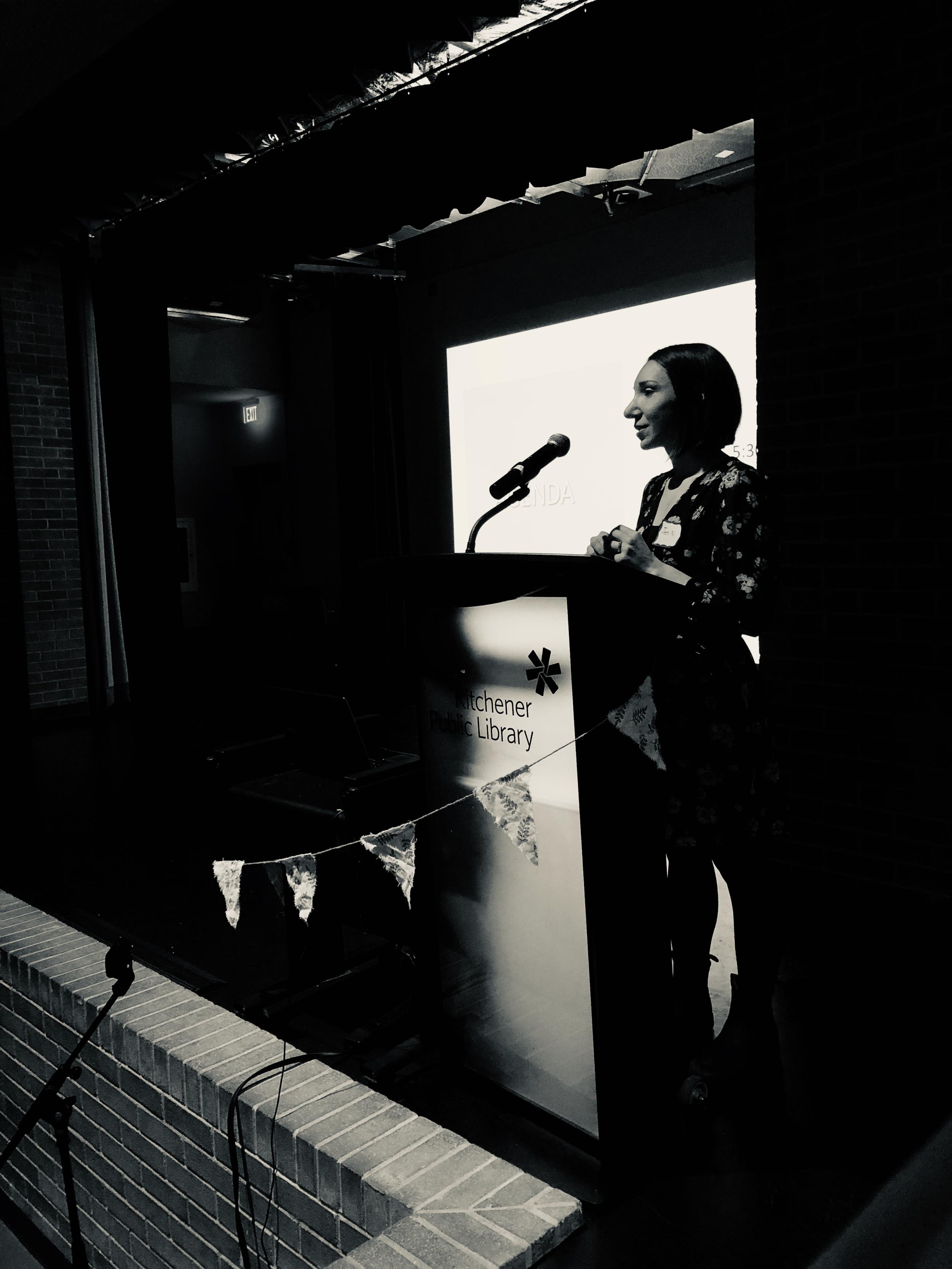 Jen Novakovich introducing the night!