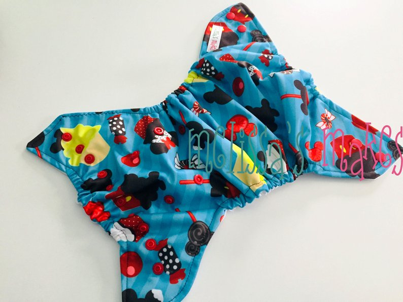 Item: handmade fabric swim diaper